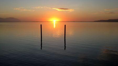 Sunset just north of Tillamook